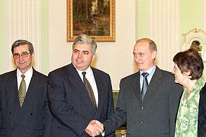 THE KREMLIN, MOSCOW. President Putin with Adri...