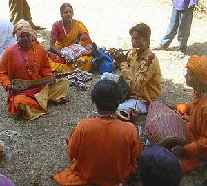 Baul singers at Vasantotsav, Shantiniketan
