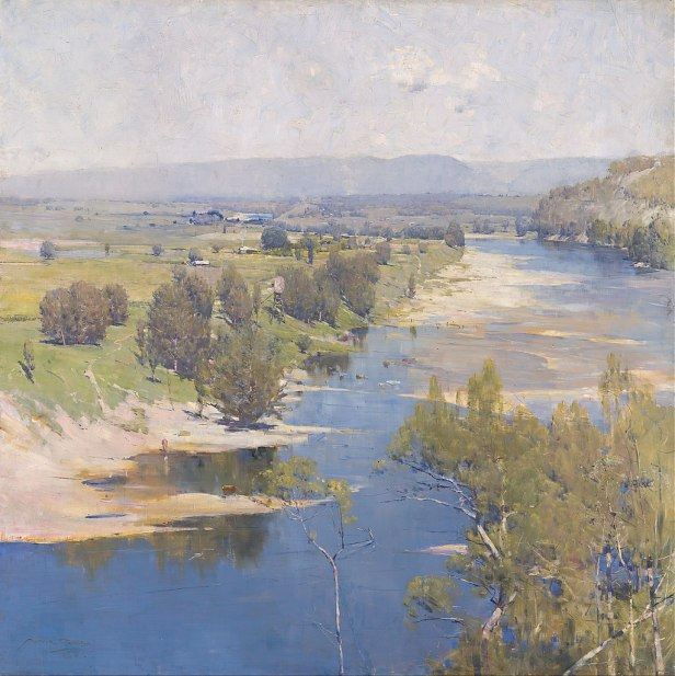 """The Purple Noon's Transparent Might"" by Arthur Streeton"
