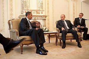 Barack Obama & Vladimir Putin at Putin's dacha...