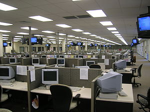 A very large collections call centre in Lakela...