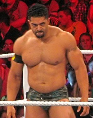 David Otunga during a match. Cropped from orig...