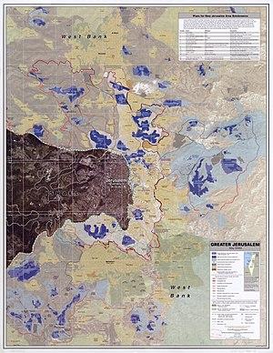 Greater Jerusalem, May 2006. CIA remote sensin...