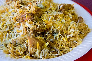 English: Hyderabadi Chicken Biryani
