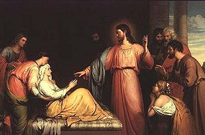 John Bridges: Christ Healing the Mother of Sim...