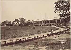 The Melbourne Cricket Ground in 1878, photogra...