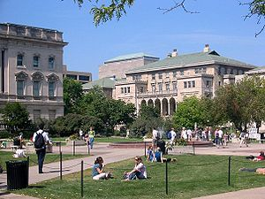 The Memorial Union as seen from the Library Ma...