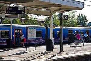 English: New Southgate Station Late morning co...