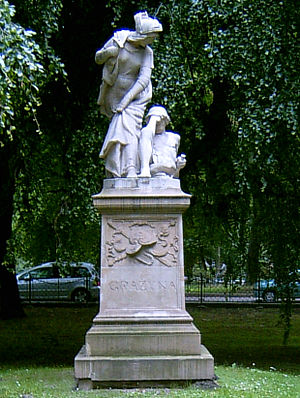 English: Statue to Grazyna based on epic poem ...