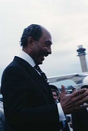 President Anwar Sadat of Egypt arrives in the ...