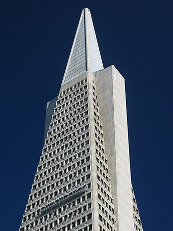 Top of the Transamerica building, downtown San...