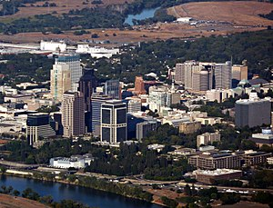 English: Aerial view of Sacramento, California.