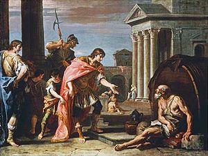 English: Sebastiano Ricci, Alexander and Diogenes