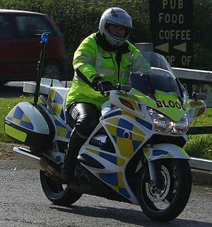 Honda ST1300P Pan-European motorcycle in emerg...