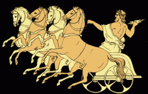 The Chariot of Zeus (1879 illustration from St...