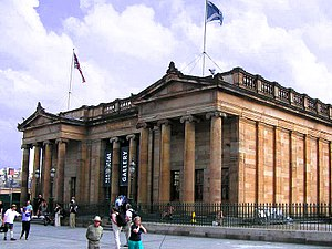 English: The National Gallery of Scotland on t...