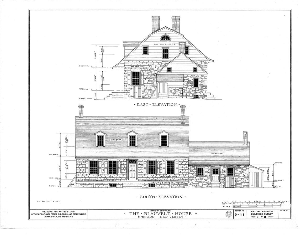 File Blauvelt House Old Hook Road Emerson Bergen County Nj Habs Nj 2 Emso 1 Sheet 1 Of 11