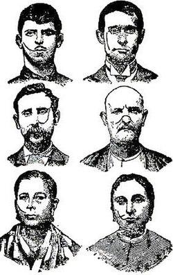Uomini e donne della camorra sfregiati (disegni del 1906)