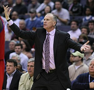 Doug Collins, coach of the Philadelphia 76ers ...