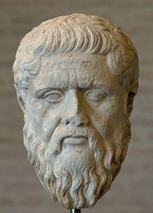 Head of Platon, roman copy. The original was e...