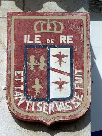Français : Blason de l'Île de Ré, Charente-Mar...