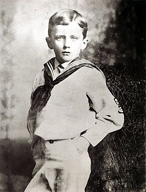 James Joyce in 1888 at age six. Possibly in Br...