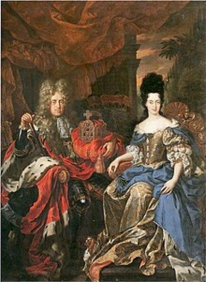 Η Άννα Μαρία Λουΐζα με το σύζυγο της Γιόχαν Βίλχελμ