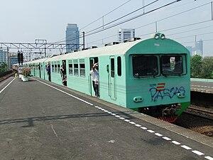 Bahasa Indonesia: Kereta kelas ekonomi, Stasiu...