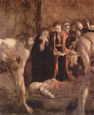 Caravaggio, Burial of St. Lucy 1608