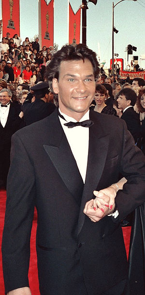 Patrick Swayze on the red carpet at the 1989 A...