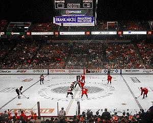 English: The AHL Philadelphia Phantoms during ...