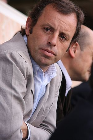 Sandro Rosell en un acte de la seva candidatur...