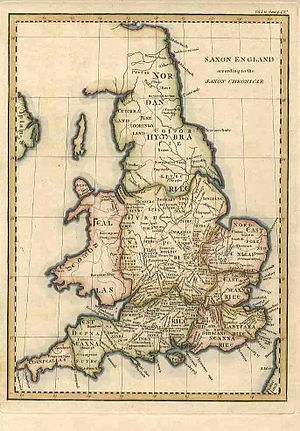 An antique map of England and Wales by John Ca...
