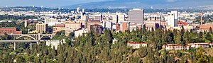 Downtown Spokane, Washington, as viewed from P...