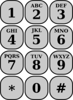 Most common mobile keypad alphabet layout.