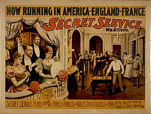 1897 poster for Secret Service by William Gill...