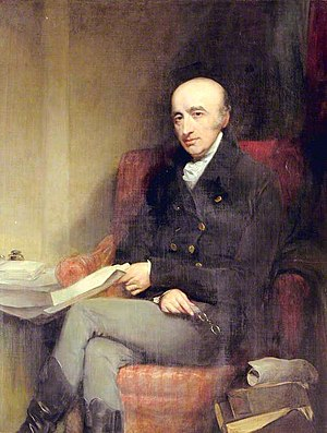 Painting of William Hyde Wollaston, the scientist