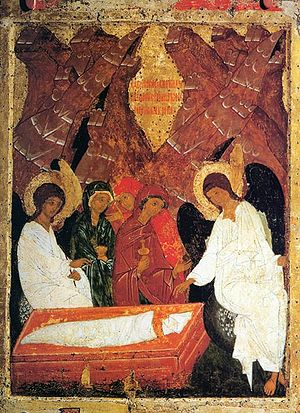 Icon of saint womens who went to Tomb of Christ