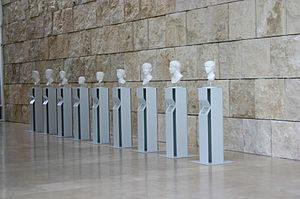 Rome, Ara Pacis museum: collection of casts of...