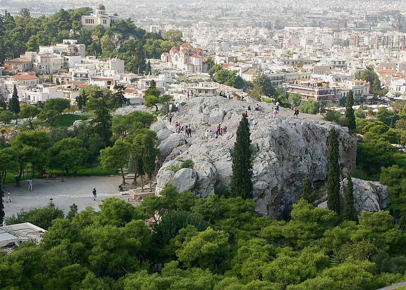 File:Areopagus from the Acropolis.jpg