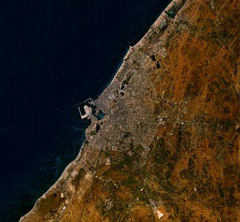Satellite image of Benghazi