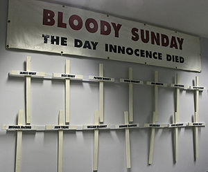 Banner and Crosses carried by the families of ...