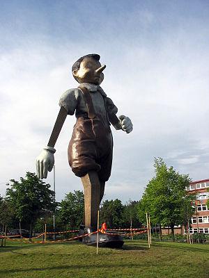 Bronze Pinocchio Statue by Jim Dine in Borås/S...