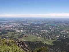 View of Boulder from Bear Peak