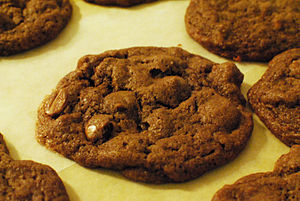 Chocolate Cookies with Chocolate and Peanut Bu...