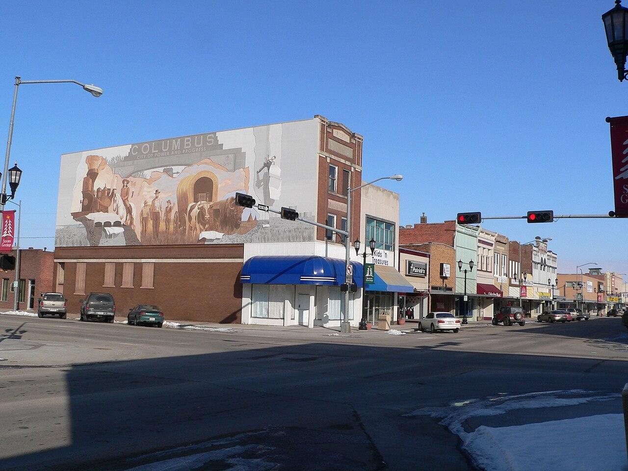 File Columbus Nebraska 2500 Block 13th St From Sw Jpg