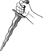 English: Line art drawing of a kris. Français ...