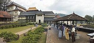 Temple Dalada Maligawa in the city Kandy in Sr...