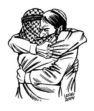 """""""Forgiveness"""" by Carlos Latuff."""
