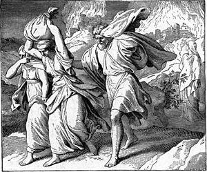 English: Fleeing Sodom and Gomorrah Русский: Б...